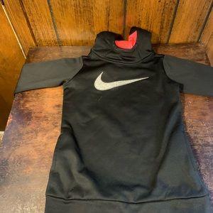 Nike Dri-Fit kids black pullover silver swoosh